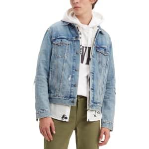 Levi's Men's Ripped Denim Trucker Jacket for $59