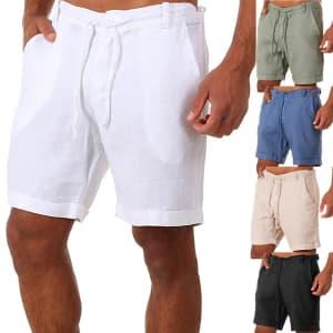 Men's Drawstring Casual Shorts: 3 for $14