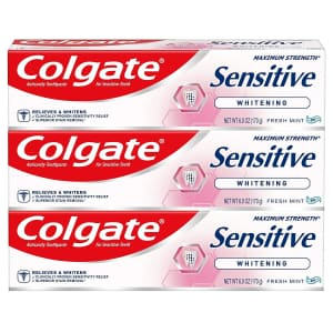 Colgate Whitening Toothpaste for Sensitive Teeth 6-Pack for $18 via Sub & Save