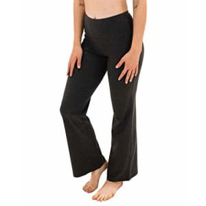Spalding Women's Misses Activewear High Waisted Bootleg Yoga Pant, Charcoal Heather, M for $28