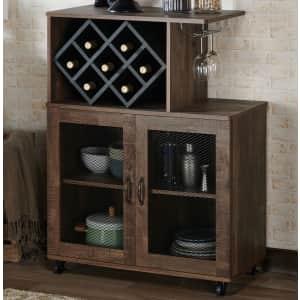 Furniture of America Ari Mobile Mini Bar for $226