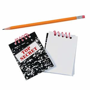 Fun Express Top Secret Notebook (Set of 24 Note Pads) Party Supplies for $9