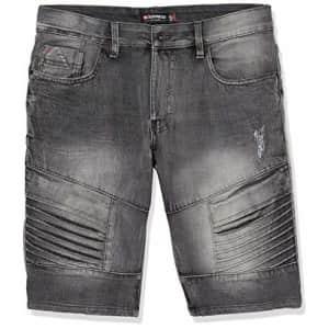 Southpole Men's Denim Shorts, Ice Black Biker, 30 for $20