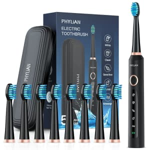Phylian Sonic Electric Toothbrush for $16