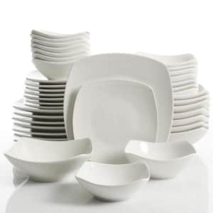 Gourmet Expressions Brentwood 40-Piece Ceramic Square Dinnerware Set for $68