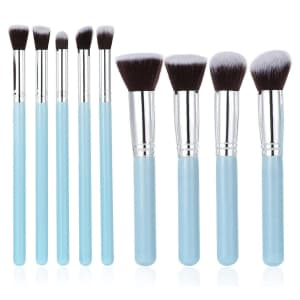 Cacagou 9-Piece Makeup Brush Set for $5