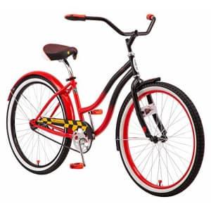 Schwinn Disney Queen of Hearts Adult Classic Cruiser Bike, 26-Inch Wheels, Low Step Through Steel for $200