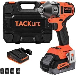 "Tacklife 20V 1/2"" Impact Wrench Kit for $110"
