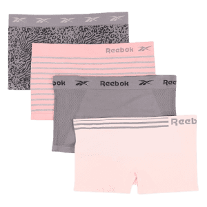 Reebok Women's Seamless Boy Shorts 4-Pack for $16