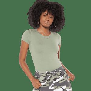 Rue21 Women's Super Soft Tee Bodysuit for $5