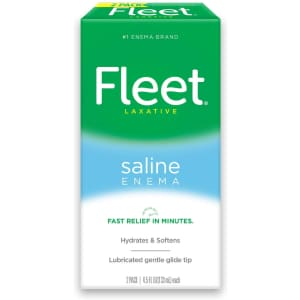 Fleet Laxative Saline Enema for Adult Constipation 2-Pack for $1 via Sub & Save