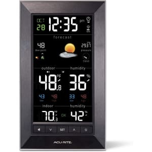 Acurite Vertical Color Weather Station with 24 Hour Future Forecast for $36