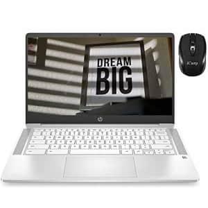 "2020 HP 14 Chromebook Flagship Laptop Computer 14"" FHD IPS Intel Core Celeron N4000 4GB RAM 32GB for $379"