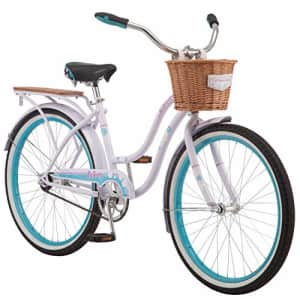 Schwinn Destiny Womens Beach Cruiser Bike, Single Speed, 24-inch Wheels, Purple for $300