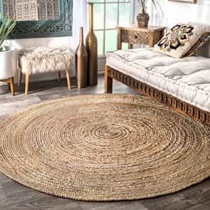 nuLOOM Rigo Hand Woven Jute Area Rug, 8' Round, Natural for $147
