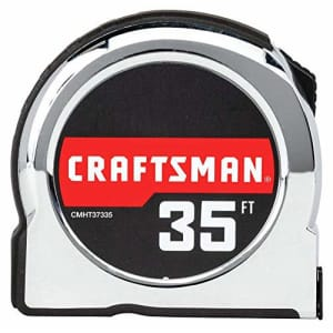 CRAFTSMAN Tape Measure, Chrome Classic, 35-Foot (CMHT37335S) for $32