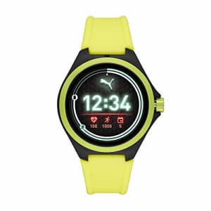 PUMA Sport 44mm Heart Rate Smartwatch - Neon Yellow Silicone Band Lightweight Touchscreen for $176