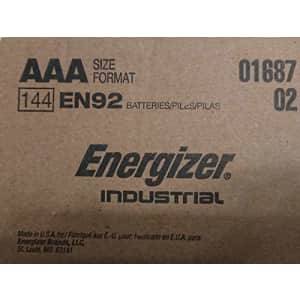 Energizer Industrial EN92 AAA 144 Counts Batteries - Made in The USA for $13