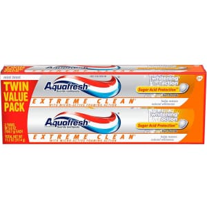 Aquafresh Extreme Clean Whitening Toothpaste 2-Pack for $3.26 w/ Sub & Save