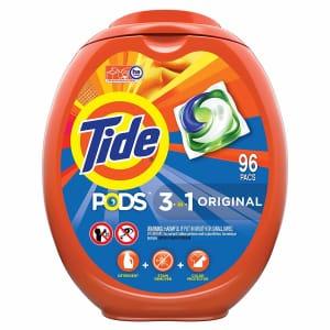 Tide Pods Laundry Detergent 96-Count Liquid Pacs for $21