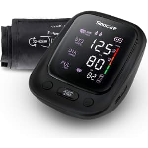 Sinocare Blood Pressure Monitor with Large Cuff for $16