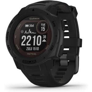 Garmin Instinct Solar-Powered Tactical Edition GPS Smart Watch for $350