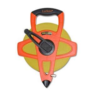 "Crescent Lufkin 1/2"" x 30m/100' Hi-Viz Orange Fiberglass SAE/Metric Dual Sided Engineer's Tape for $16"