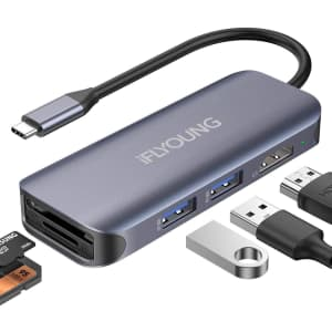 iFlyoung 6-in-1 USB Hub for $12
