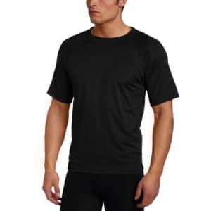 Kanu Surf Men's Short Sleeve UPF 50+ Swim Shirt (Regular & Extended Sizes), Black, Large for $19