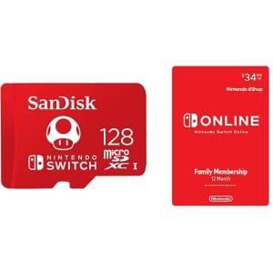 SanDisk 128GB MicroSDXC UHS-I Memory Card for Nintendo Switch for $35