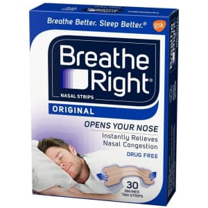 Breathe Right Original Nasal Strips 30-Pack for $5