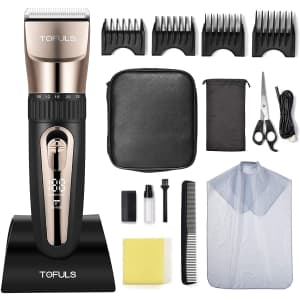 Tofuls Cordless Hair Clippers Kit for $30
