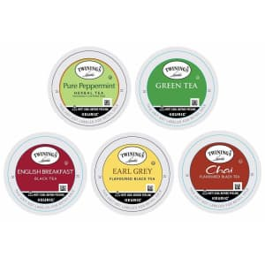 Twinings of London Tea Sampler Variety K-Cups 10-Pack for $7.80 via Sub & Save