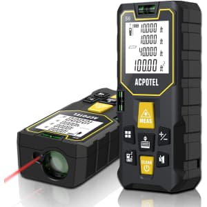 Acpotel 165-Foot Laser Tape Measure for $17