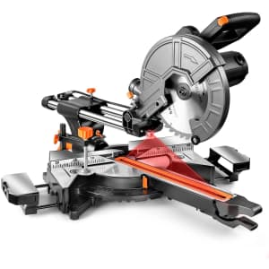 """DSF 10"""" 15A Double-Bevel Sliding Compound Miter Saw for $100"""
