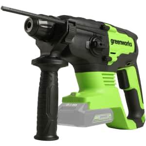 Greenworks 24V Brushless Rotary Hammer (No Battery) for $122