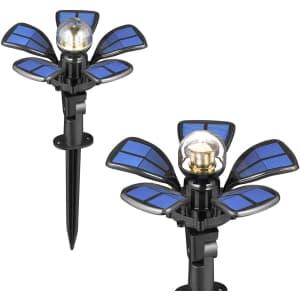 SainSonic LED Solar Pathway Light 2-Pack for $17