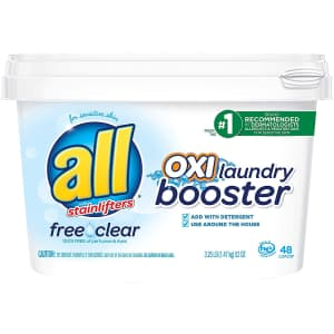 All Detergent OXI 52-oz. Laundry Booster for Sensitive Skin for $7.52 via Sub & Save