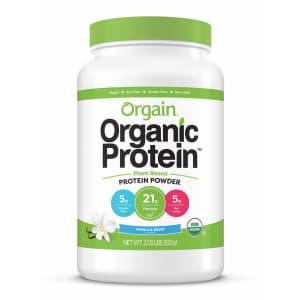 Orgain Organic Plant Based Protein Powder 2-lb. Tub for $30