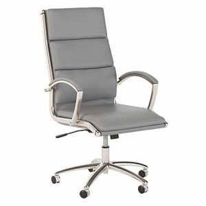 Bush Furniture Bush Business Furniture Office by kathy ireland Echo High Back Executive Chair, Light Gray Leather for $307