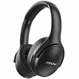 Mpow H19 IPO Active Noise Cancelling Headphones, Bluetooth 5.0 Headphones with CVC8.0 Mic, Deep for $74