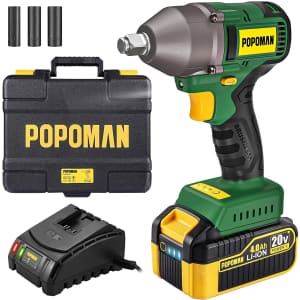 Popoman 20V Cordless Impact Wrench for $140