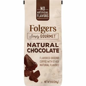 Folgers Simply Gourmet Natural Chocolate Flavored Ground Coffee, 10 Ounces for $19