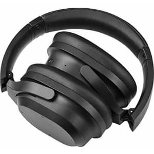 Insignia NS-AHBTOENC Wireless Noise Canceling Over-The-Ear Headphones - Black (Renewed) for $120