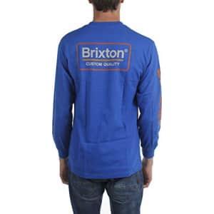 Brixton Men's Palmer II Standard FIT Long Sleeve T-Shirt, Royal, S for $30