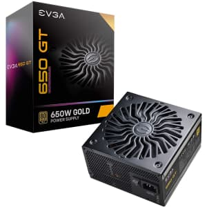 EVGA Supernova 650 GT, 80 Plus Gold 650W Power Supply for $79