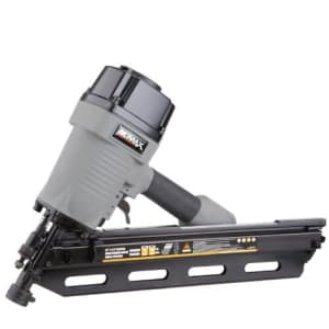 """NuMax SFR3490 Pneumatic 34 Degree 3-1/2"""" Clipped Head Framing Nailer Ergonomic and Lightweight Nail for $110"""