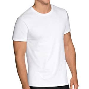 Fruit of the Loom Men's Stay Tucked Crew T-Shirt, Classic Fit - White - 6 Pack, 2X-Large for $15