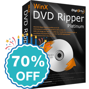 WinX DVD Ripper Platinum, WinX HD Video Converter, WinX MediaTrans and DVD Copy Pro at Digiarty Software: 70% off, starting from $20