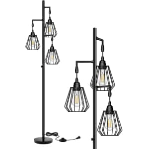 QiMH Dimmable LED Industrial-Style Floor Lamp for $50